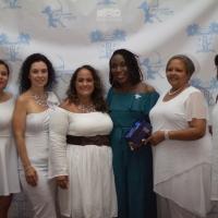Danielle's sister Gail accepted her award