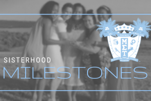 Members celebrate milestone years of sisterhood!